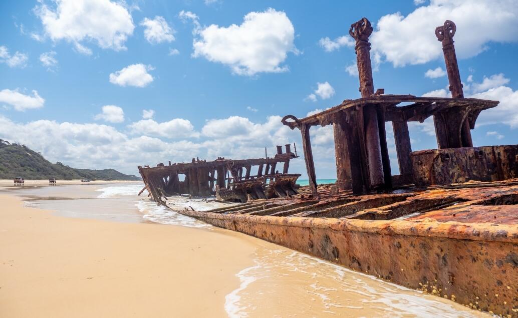 Zájezd Pláže Austrálie Fraser vrak lodi